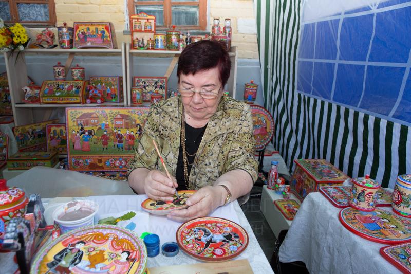 Городецкой росписи мастер класс