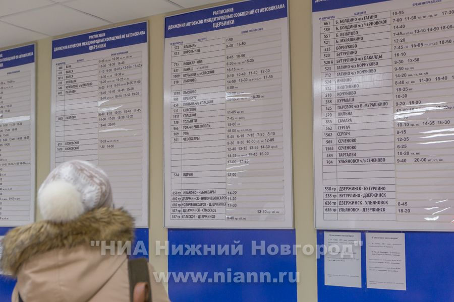 Расписание автобусов нижний новгород вад с автостанции