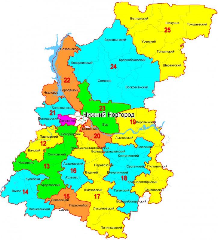 Схема границы округов