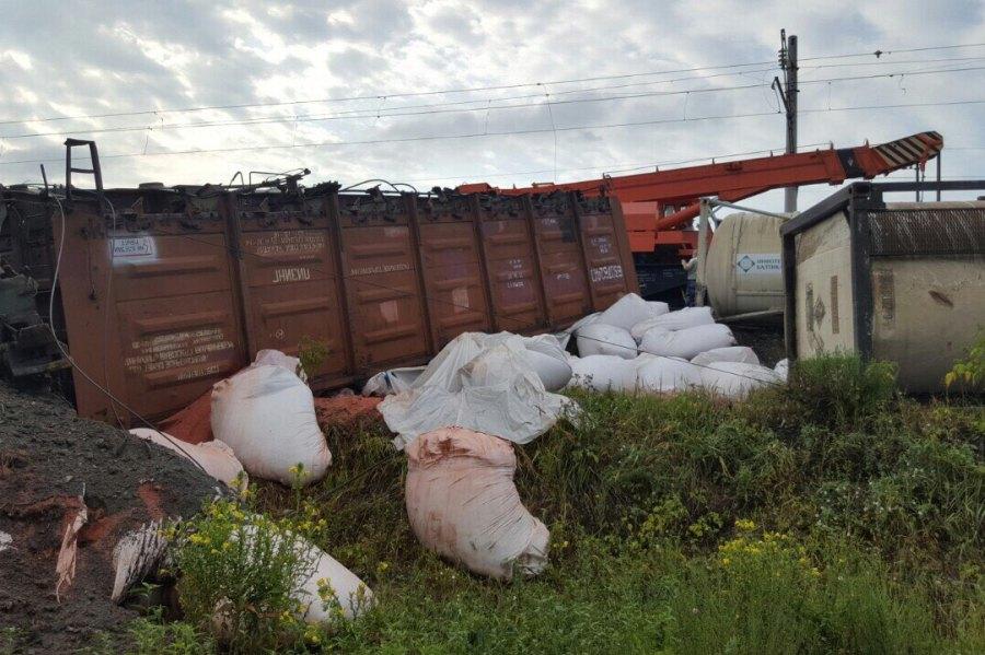 14 вагонов поезда сошло срельс наперегоне Дзержинск— Игумново