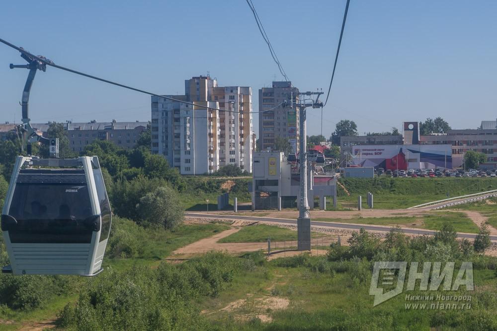 Работа канатной дороги Нижний Новгород-Бор приостановлена из-за ветра