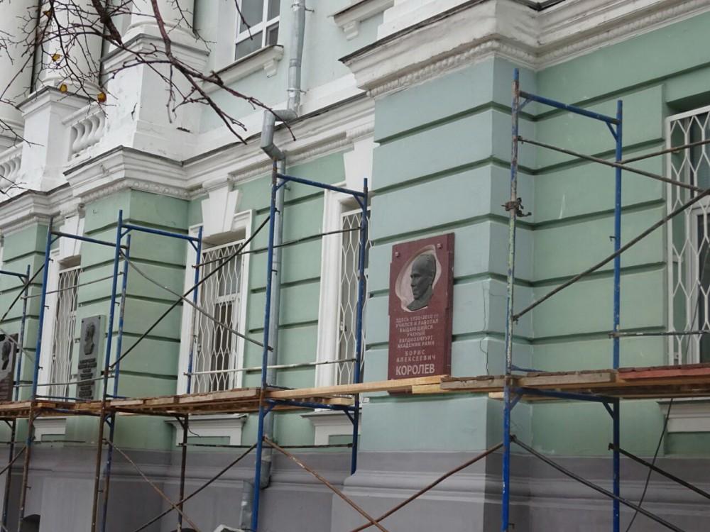 Фасад Нижегородской врачебной академии навсе 100% обновят