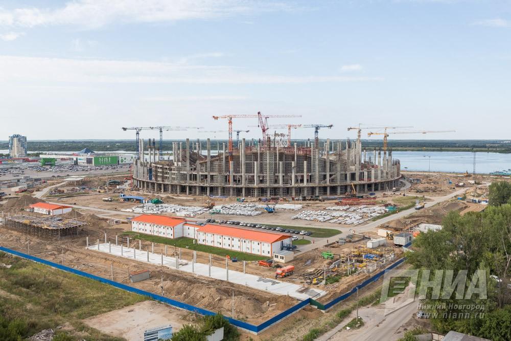 Каркас крыши «Стадиона Нижний Новгород» собран на20 процентов