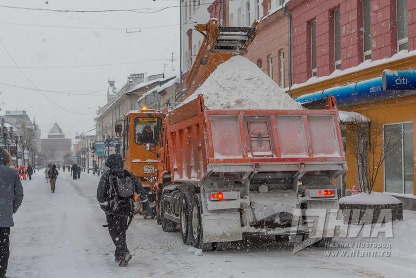 Работы повывозу снега усилены вНижнем Новгороде 5января