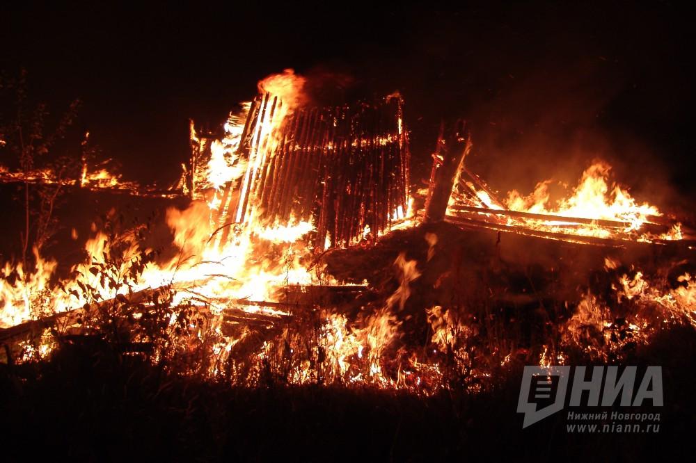 ВВыксе сгорел дом из-за попытки хозяев обогреть курятник