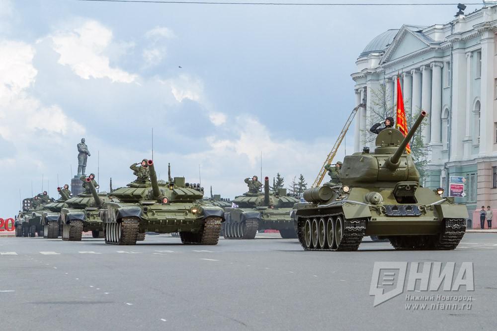 Вцентре столицы нанесли временную разметку для военной техники Парада Победы
