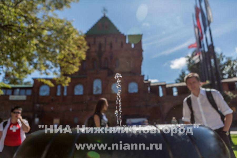 Питьевые фонтанчики вНижегородском кремле возобновили работу