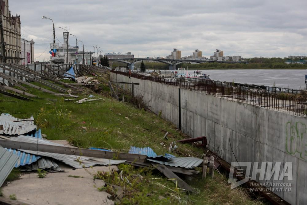 Демонтаж конструкций наНижне-Волжской набережной вНижнем Новгороде изготовлен на90%