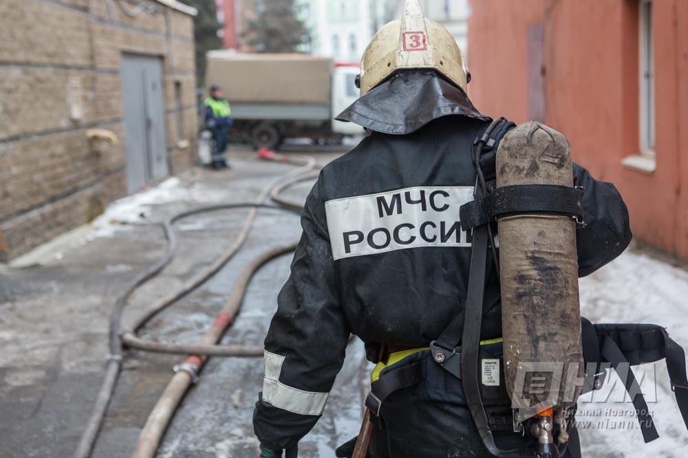 ВНижегородской области зажегся двухэтажный дом