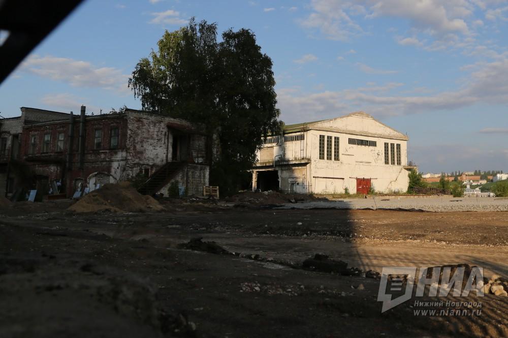 Демонтаж железобетонных пакгаузов наСтрелке вНижнем Новгороде начался 1августа