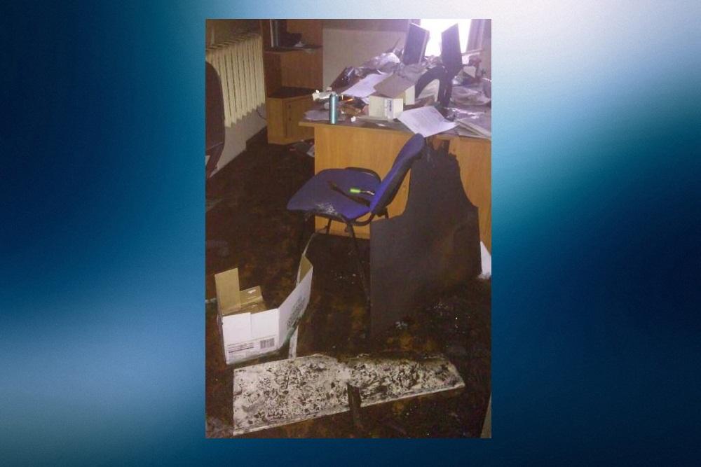 Пожар произошел вопорном пункте милиции вНижнем Новгороде