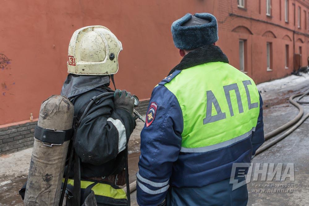 «Газель» загорелась впериод движения натрассе вНижегородской области