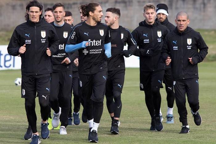 Появилось видео встречи сборной Уругвая хлебом исолью