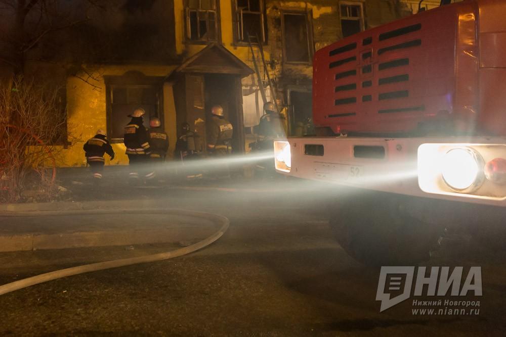Пенсионерка погибла на пожаре в двухэтажном доме в Автозаводском районе Нижнего Новгорода 21 октября