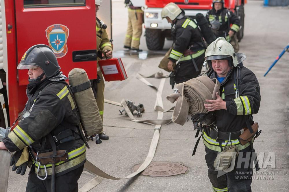 Пилорама на площади 400 кв. метров горела в г. Кулебаки Нижегородской области 27 ноября
