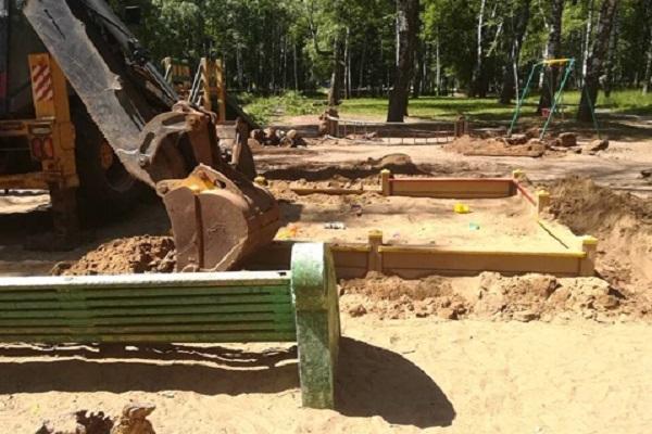 Демонтаж детской площадки начался в нижегородском парке Пушкина