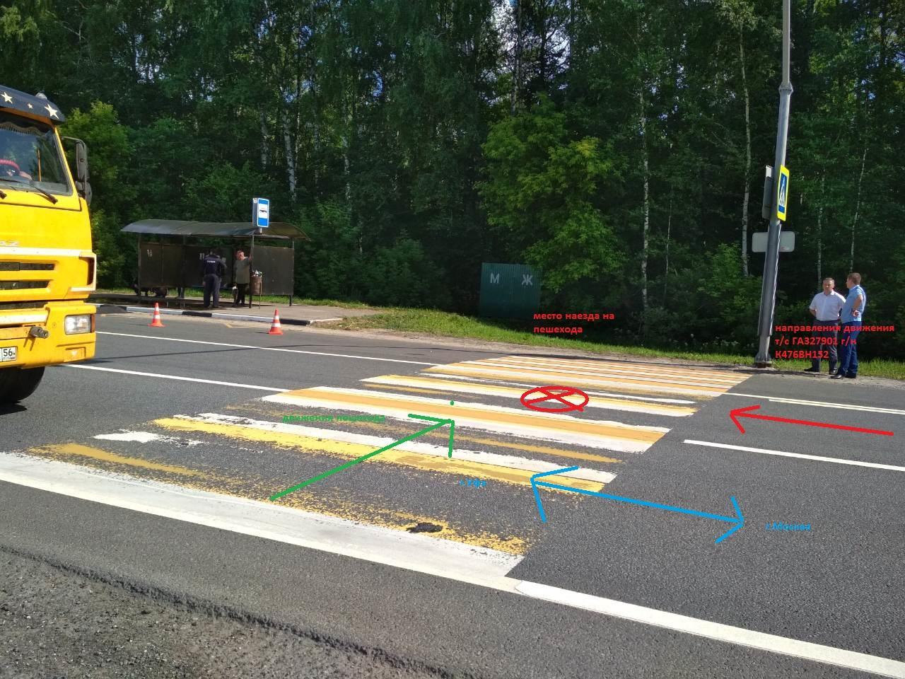 Ребенок погиб в ДТП на пешеходном переходе в Воротынском районе Нижегородской области