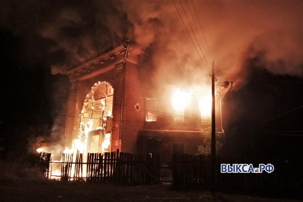 ОКН XVIII века - охотничий домик Баташёвых сгорел в Выксе