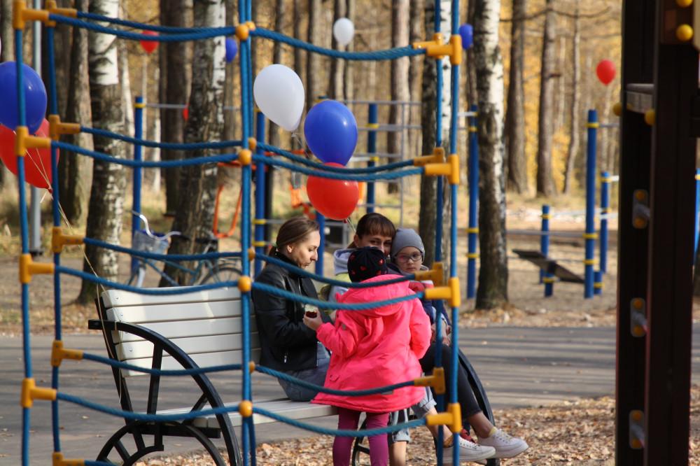 Парк благоустроили в Сосновском районе